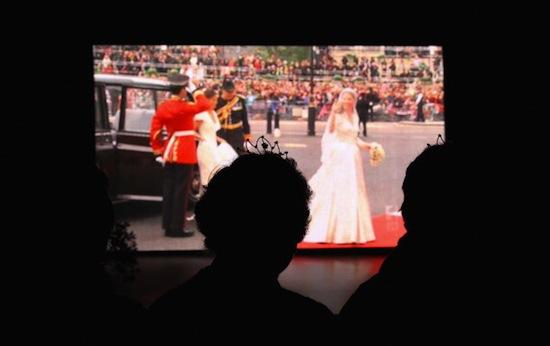 watching royal wedding