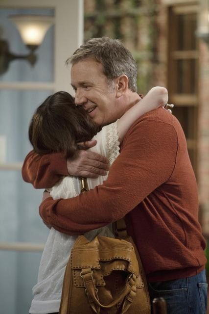 Molly Ephraim and Tim Allen in ABC&#039;s Last Man Standing.