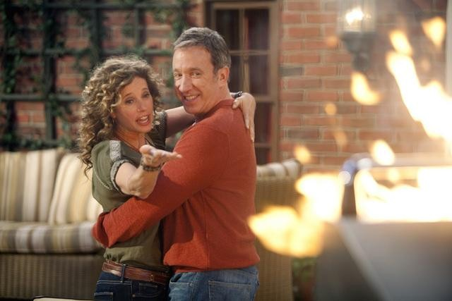 Nancy Travis and Tim Allen in ABC&#039;s Last Man Standing.