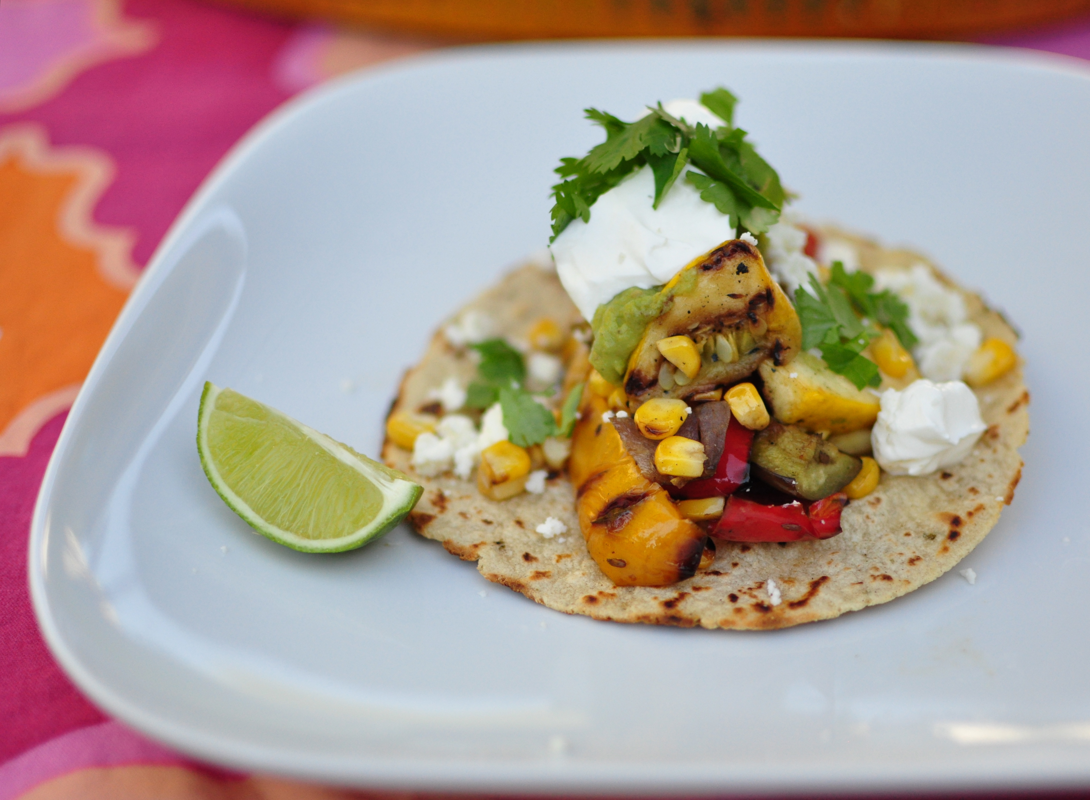 Grilled Vegetarian Tacos With Barbecued Guacamole | POPSUGAR Food
