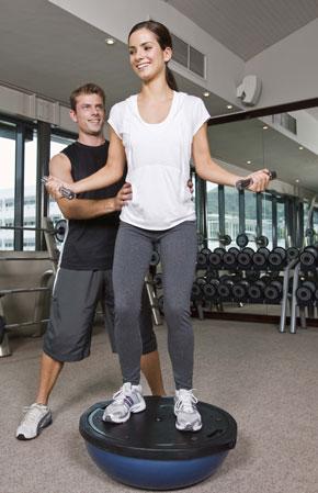 balancing strengthtraining exercises on bosu or balance
