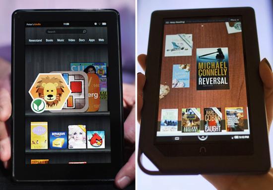Kindle Fire vs. Nook Tablet