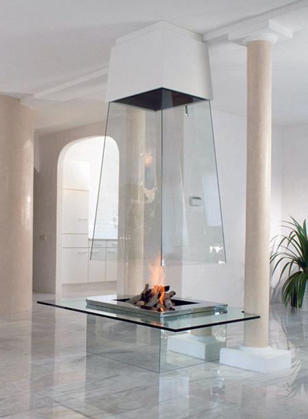 Modern fireplaces = art