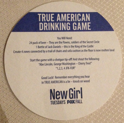 Rules For New Girl Drinking Game True American   POPSUGAR
