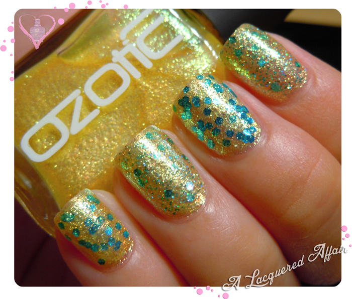OZOTIC Sugar 904 with Tony Moly GS01 and L.A. Girl Nostalgic sandwich