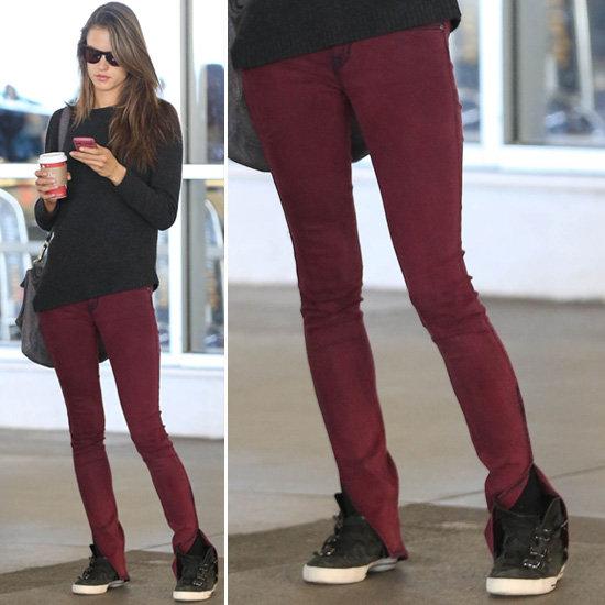 Dark Red Jeans