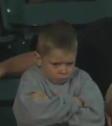 Pouting Kid Brings Stadium to Its Feet