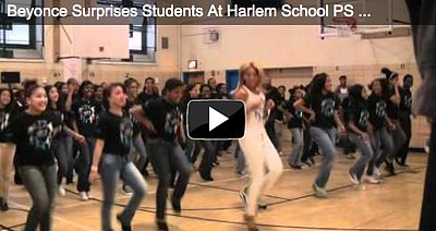 Beyonce Surprises Harlem Students at Pep Rally Dance Workout