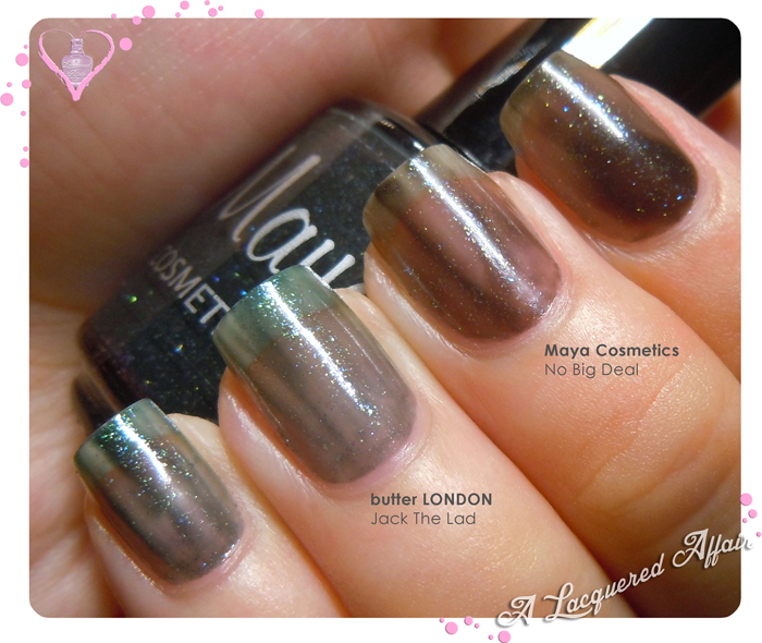 Maya Cosmetics No Big Deal vs butter LONDON Jack The Lad