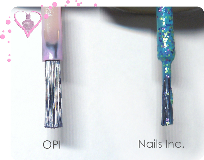 OPI vs Nails Inc. brush comparison