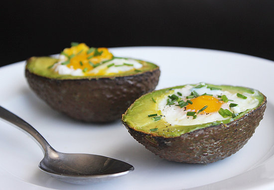 Baked eggs in avocado recipe popsugar fitness share this link forumfinder Gallery
