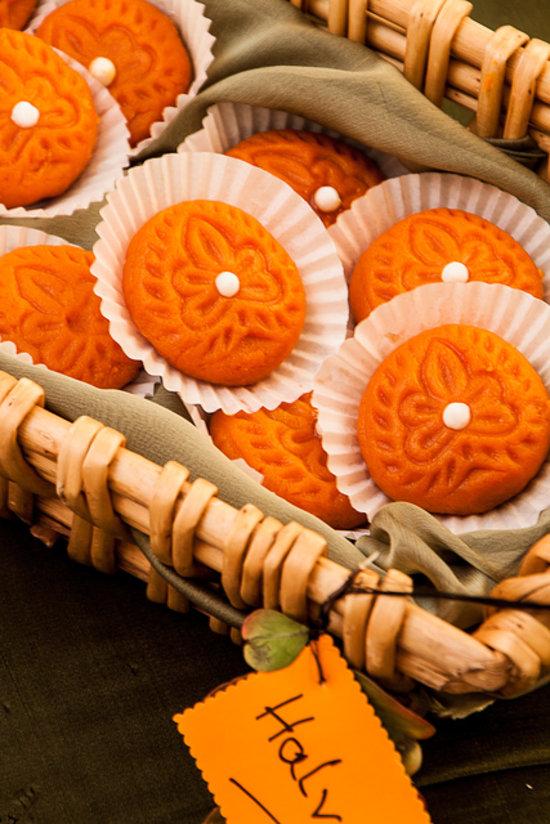Smooth, luxurious pumpkin halva.