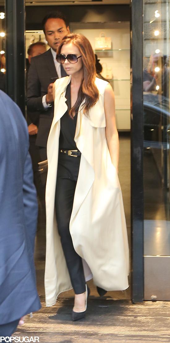 Victoria Beckham Pops Up in Paris For a Big Announcement