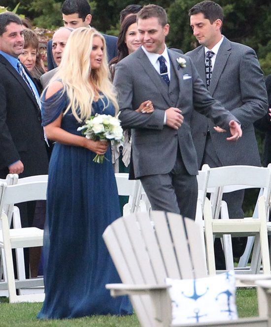 Jessica Simpson As A Bridesmaid For Her Friends