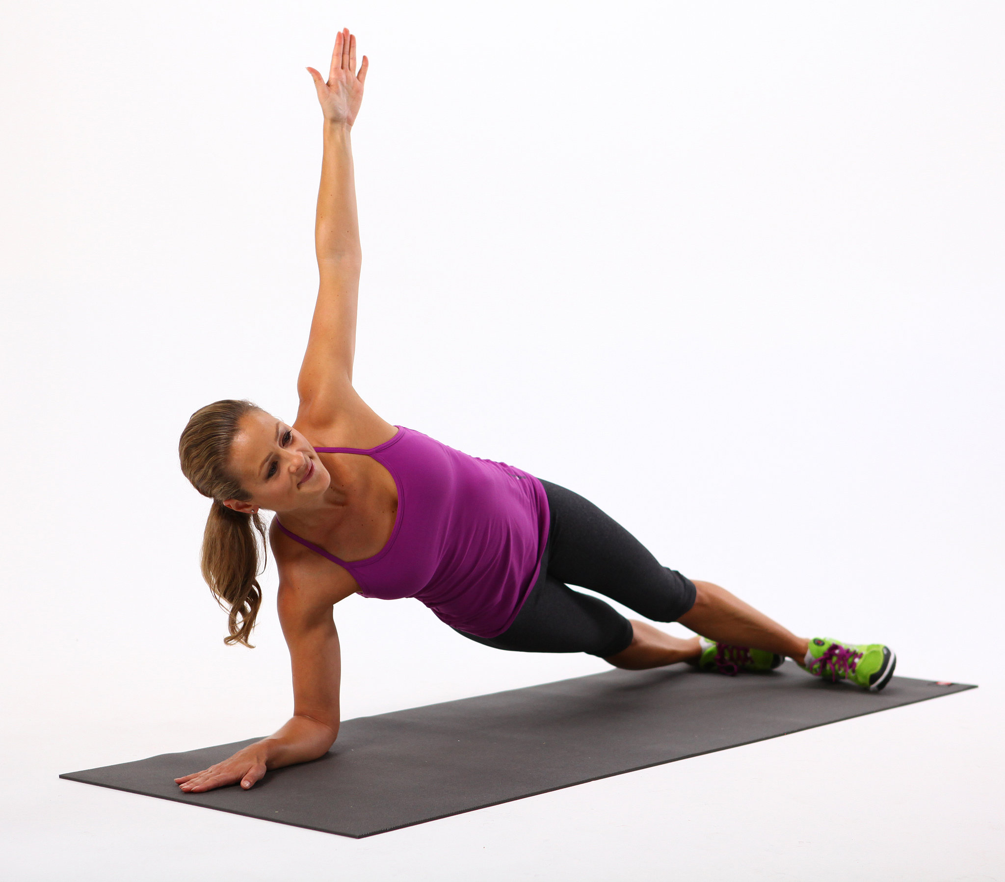 Side Elbow Plank | This No-Equipment Workout Sculpts Sexy