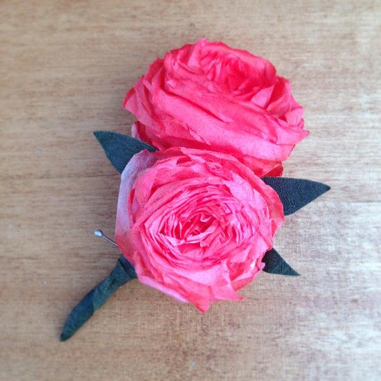 Coffee Filter Flower Boutonniere | POPSUGAR Smart Living
