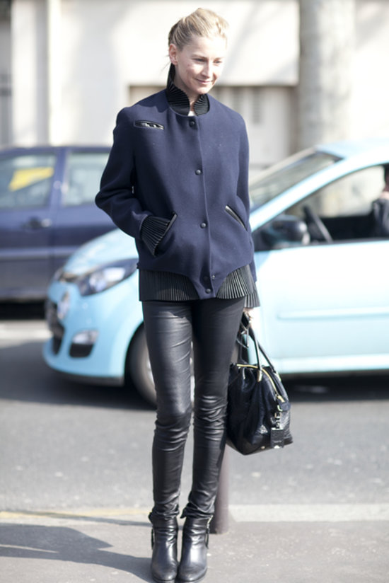 c2b7407b5b6c0d How to Wear Leather Pants | Street Style | POPSUGAR Fashion