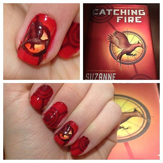 Acrylic Nail Game: Hunger Games Catching Fire Nail Art