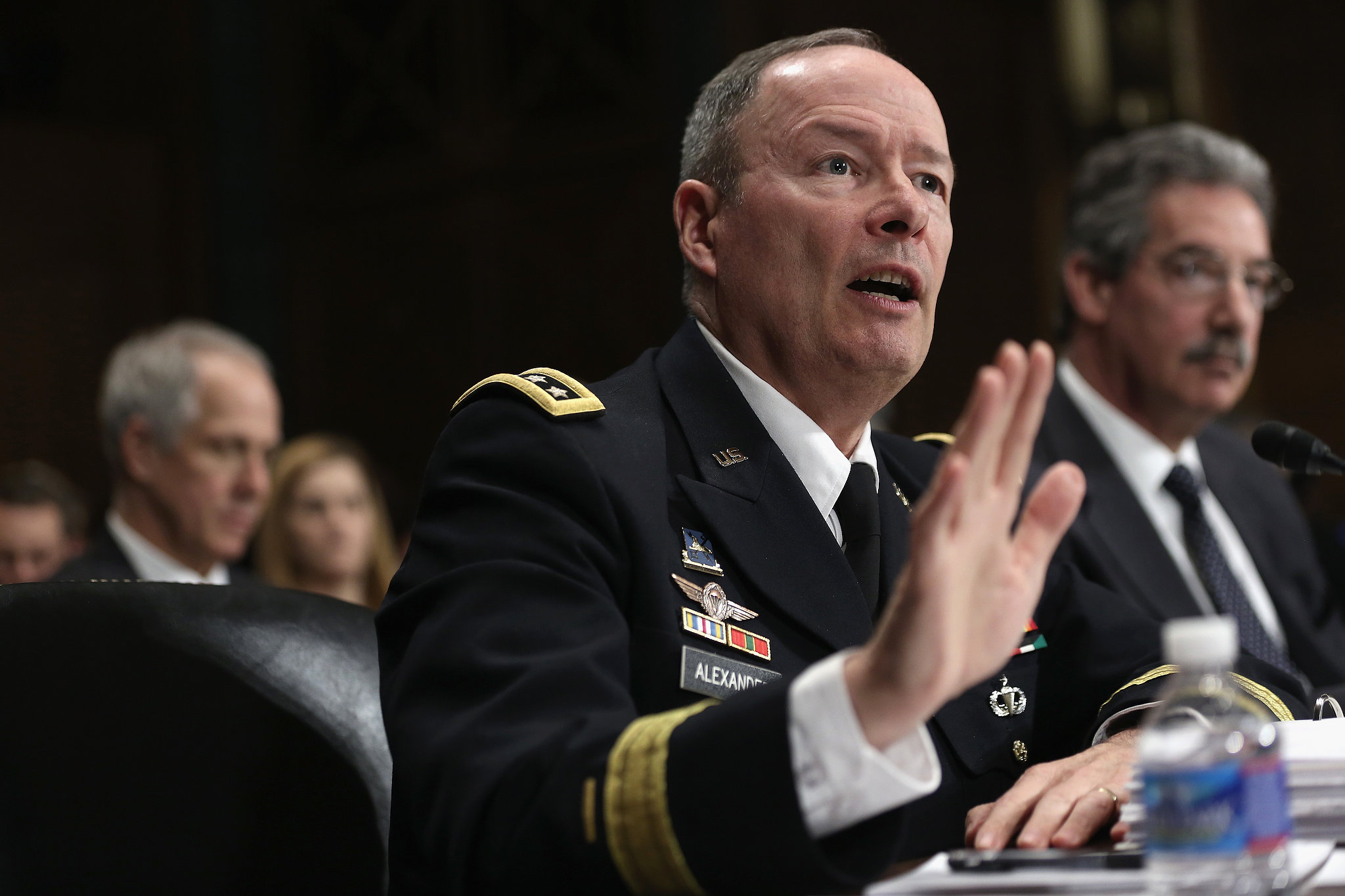 NSA director Keith Alexander testifies before the Senate on Dec. 11, 2013.