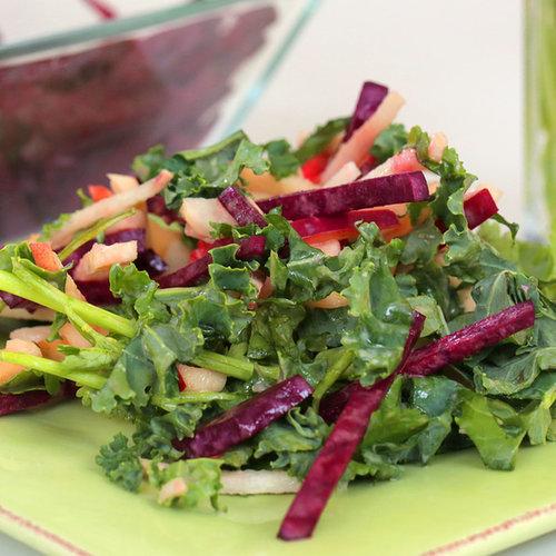Raw Beet Salad With Jicama, Apple, and Mustard Dressing