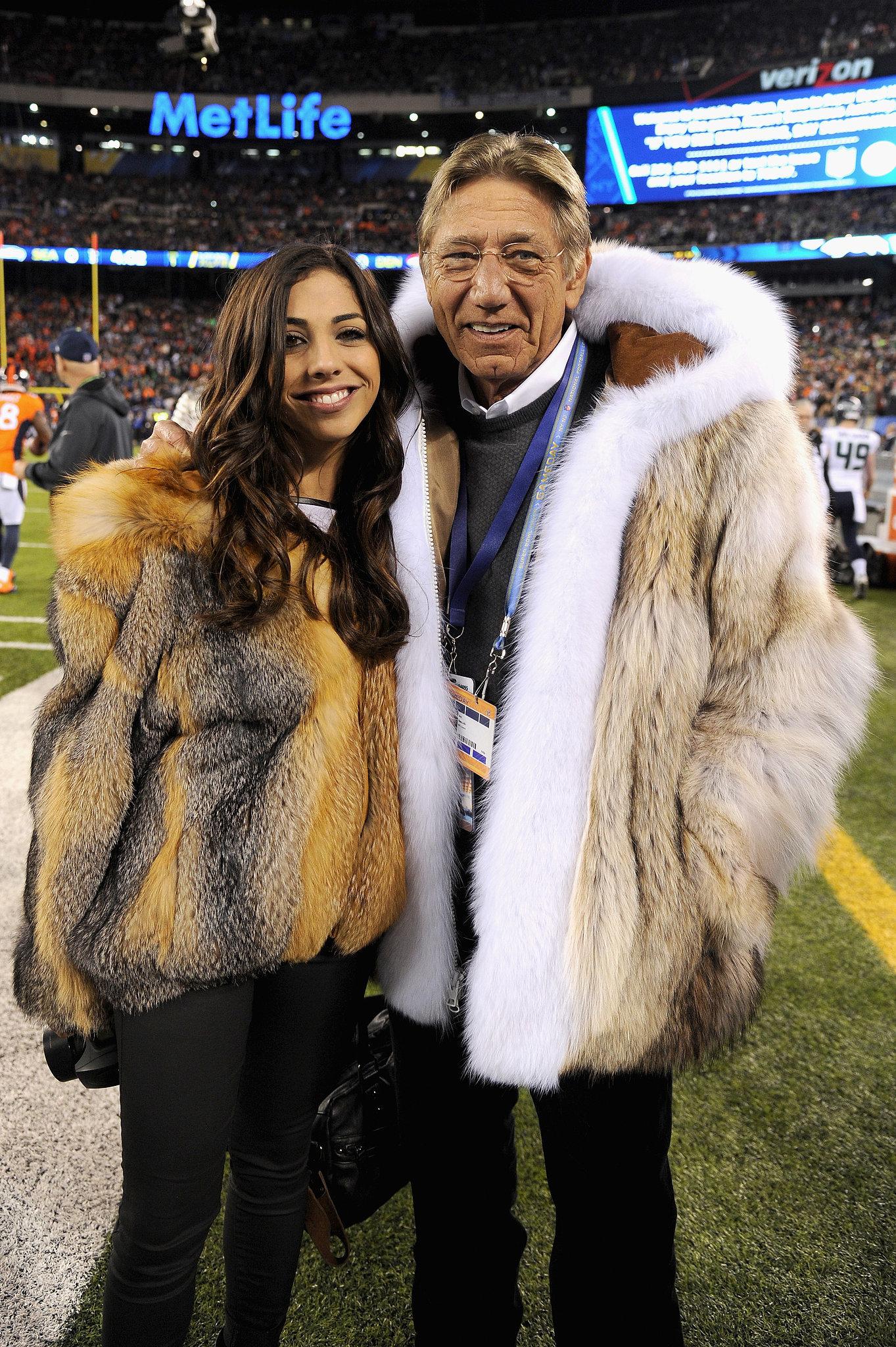 Joe Namath's Fur Coat at Super Bowl 2014 | POPSUGAR Fashion