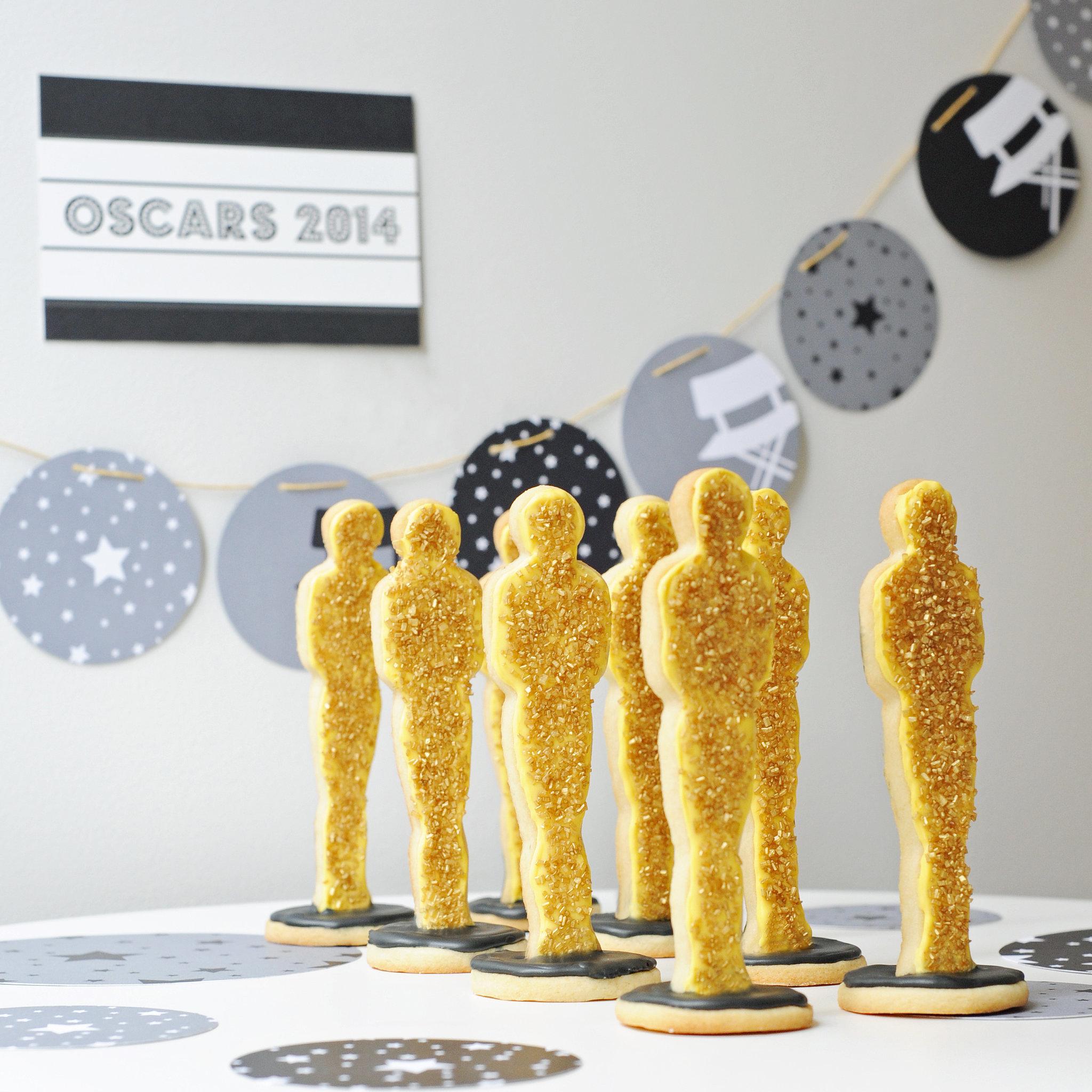 oscars statue cookies recipe popsugar food