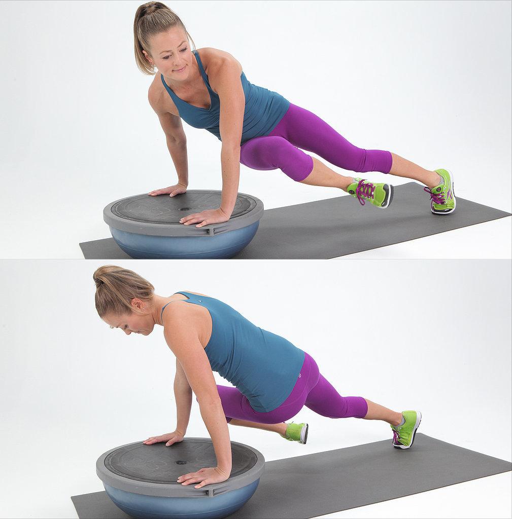 Twisted Plank on BOSU Ball