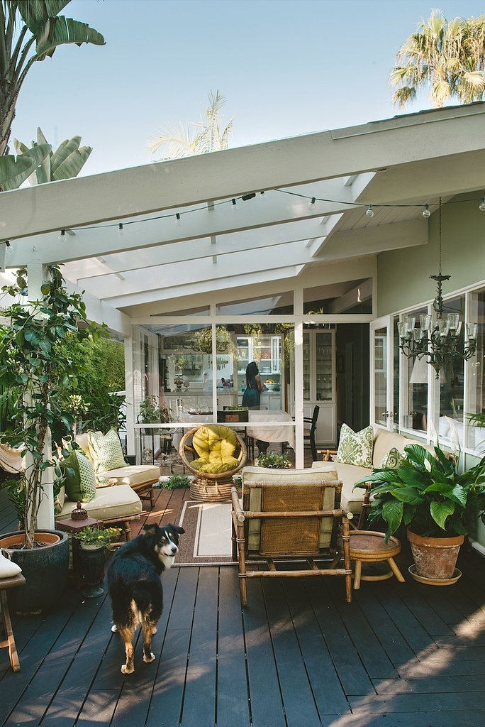 For this indoor-outdoor living room, green walls were used ... on Indoor Outdoor Living Room id=61661
