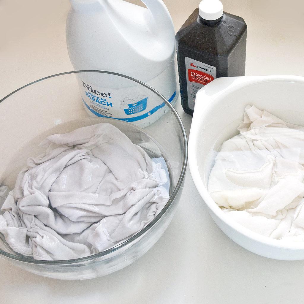 Bleach vs hydrogen peroxide popsugar smart living for How to whiten dingy white t shirts