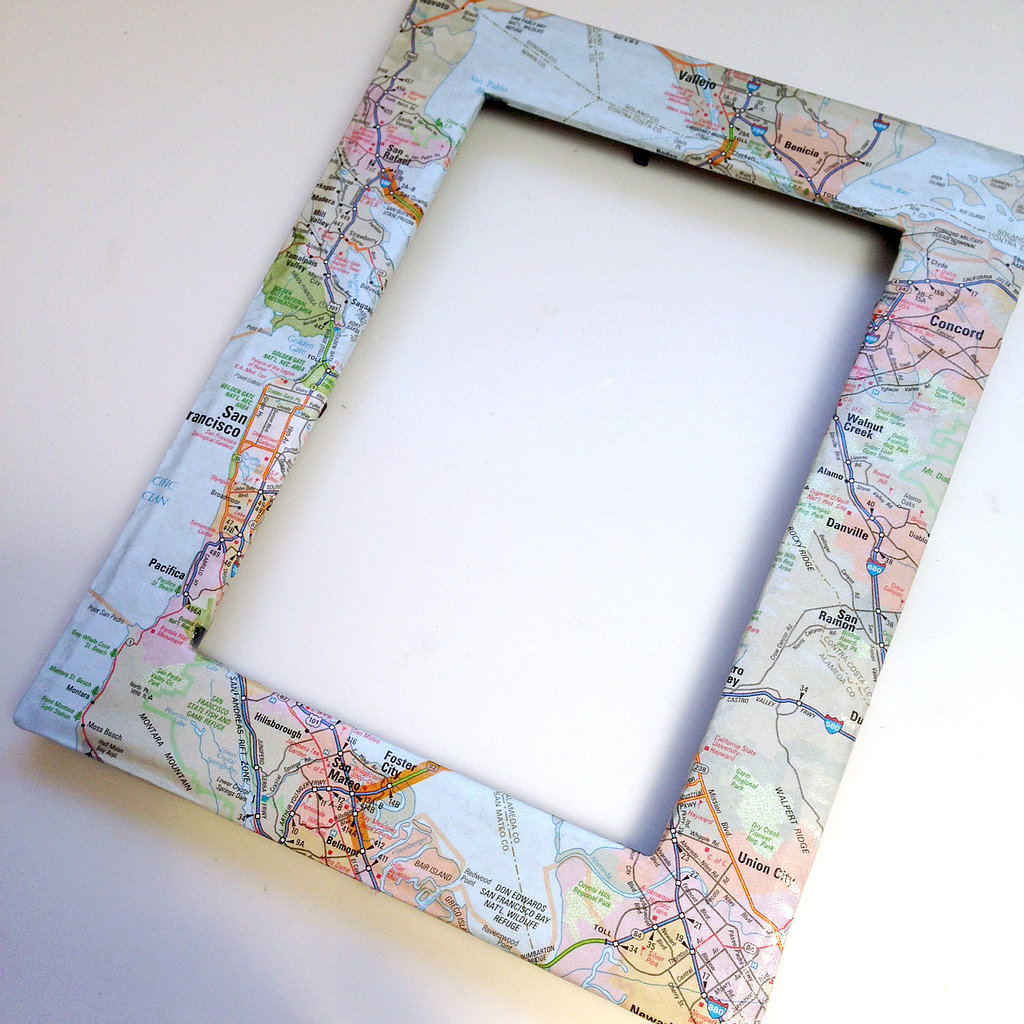 Diy Map Frame Popsugar Smart Living