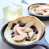 Blueberry Dutch Baby With Nectarines and Ginger Syrup