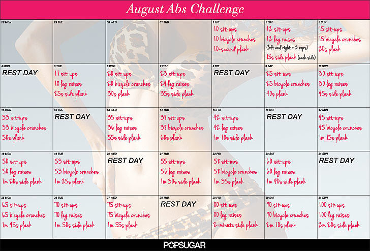 picture regarding Printable Ab Workouts referred to as August 2014 Printable Ab muscles Exercise routine Dilemma POPSUGAR