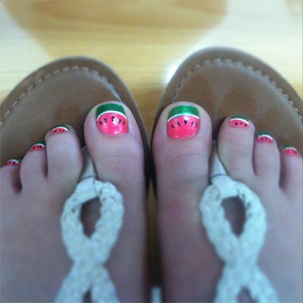 Watermelon Nail Art | POPSUGAR Beauty