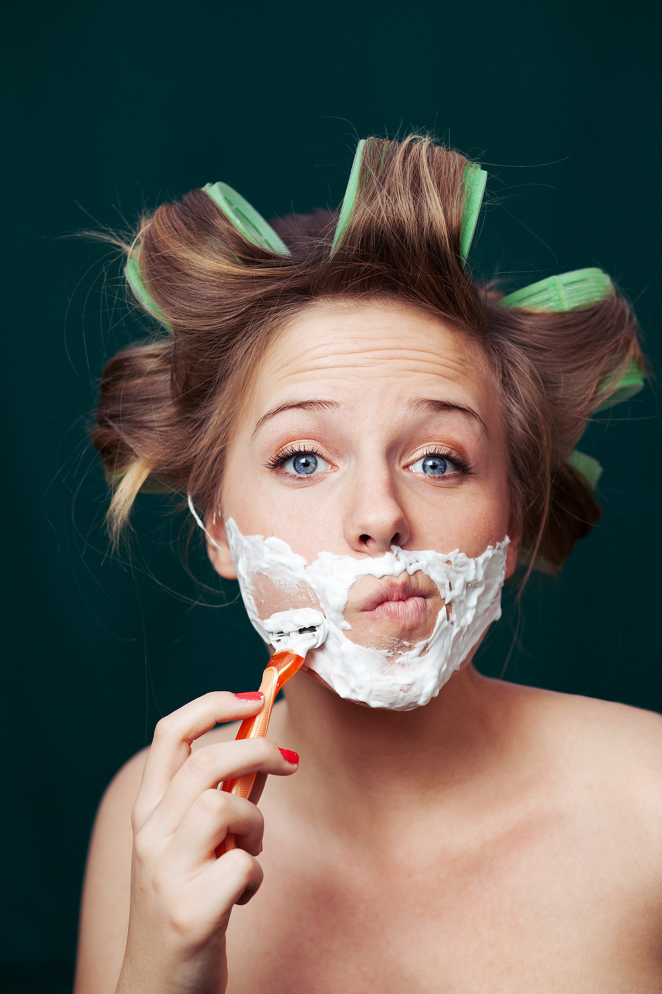 Facial shaving for woman