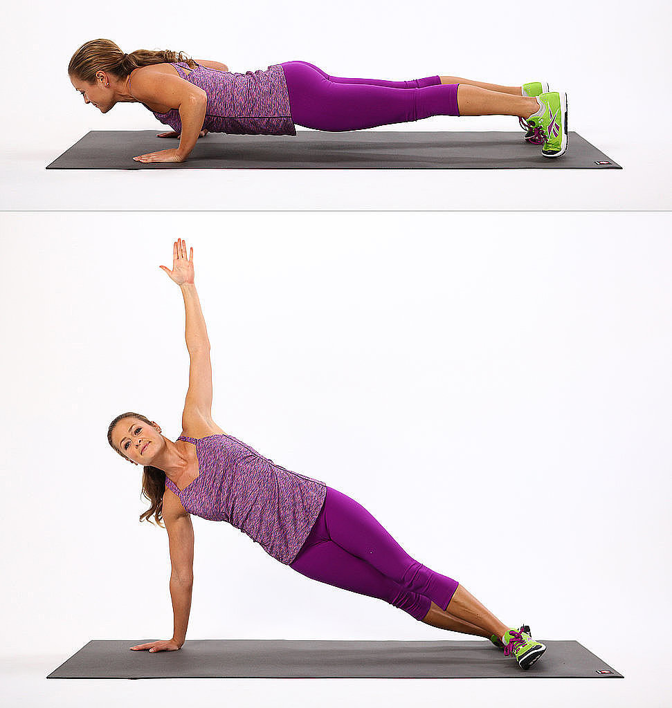 Side planking can tighten the core muscles and reduce fat