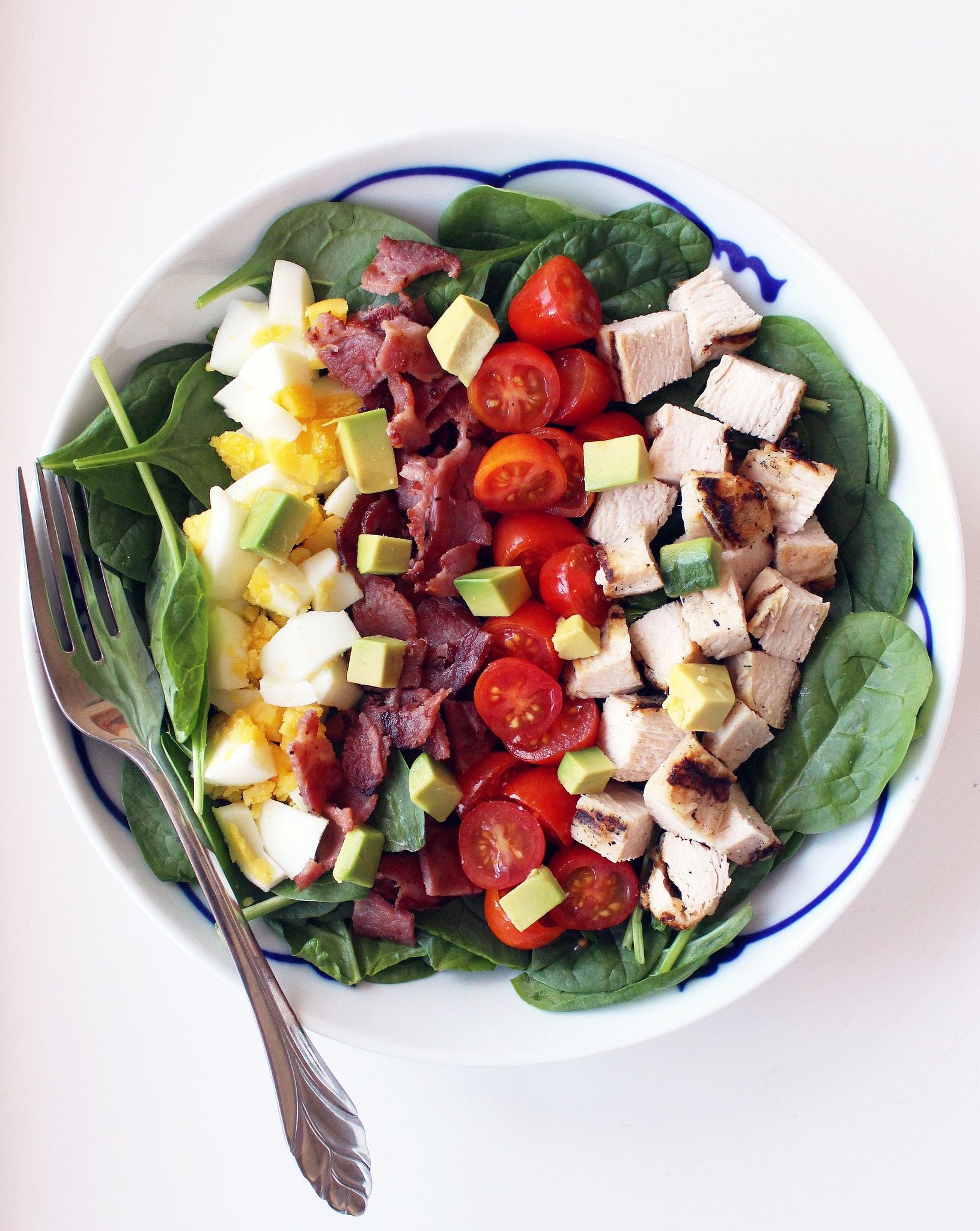 Healthy cobb salad popsugar fitness for Salas lunchs