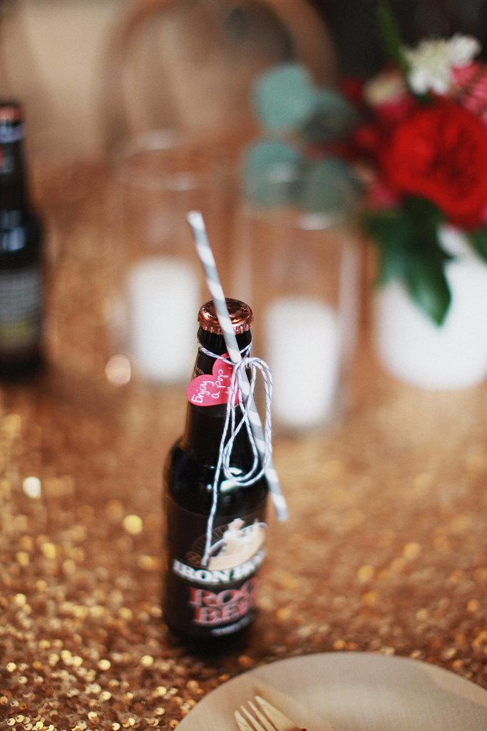 Garrafas de refrigerante lembrancinha de casamento