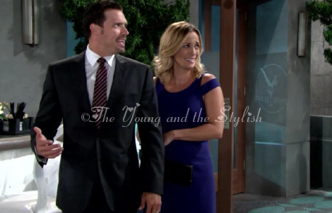 sage warner blue cutout dress the young and the restless