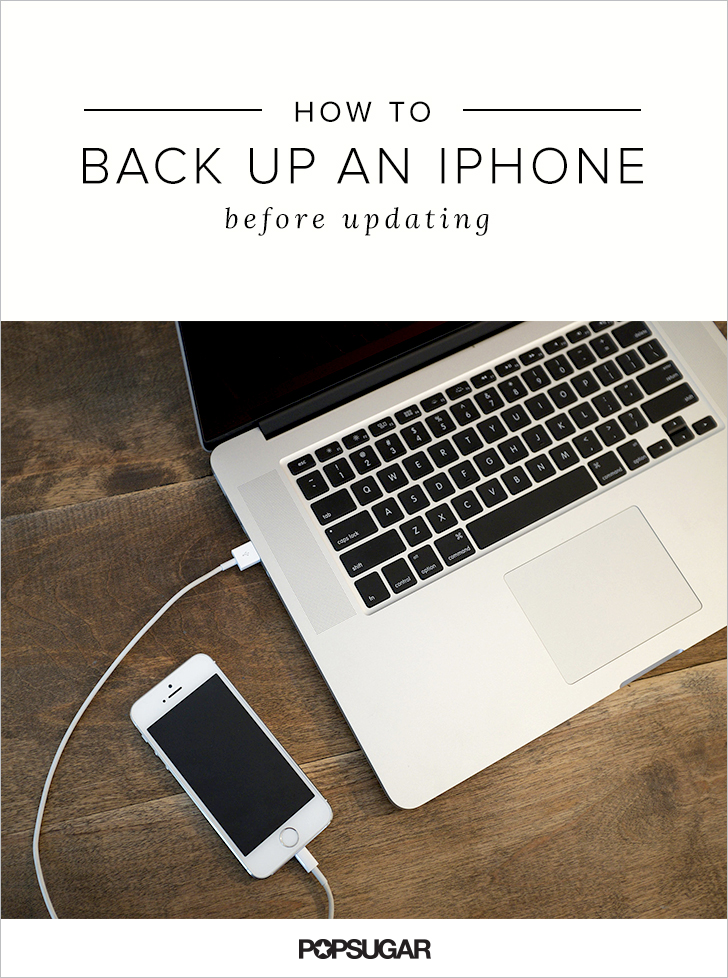 how to back up my iphone