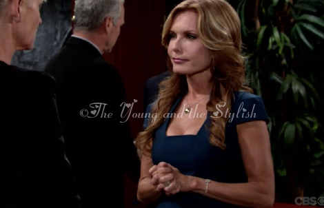 lauren fenmore baldwin's blue dress the young and the restless