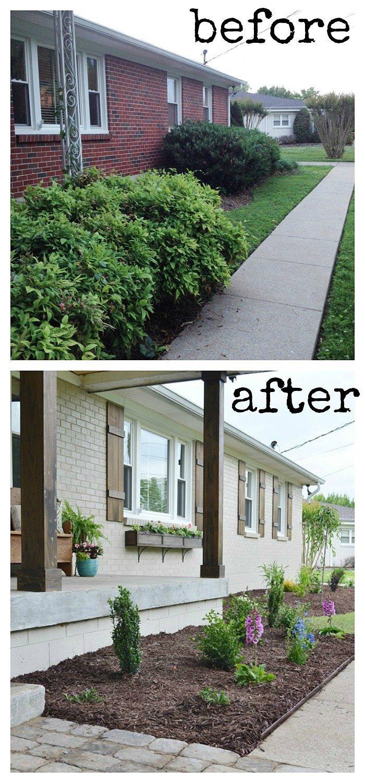 Diy home exterior makeover popsugar home - Pictures of painted exterior brick ...