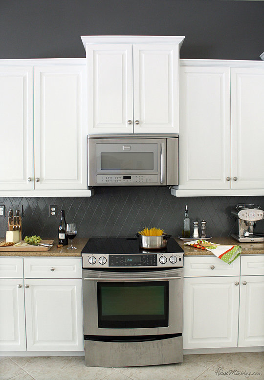 How to make over a kitchen with paint popsugar home for Charcoal painted kitchen cabinets
