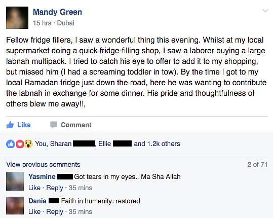 Mandy Green's Viral Facebook Post