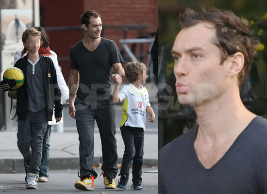 photos of jude law with his sons as samantha burke