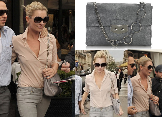 ysl accessories online - Kate Moss in Paris with Yves Saint Laurent Handbag | POPSUGAR ...