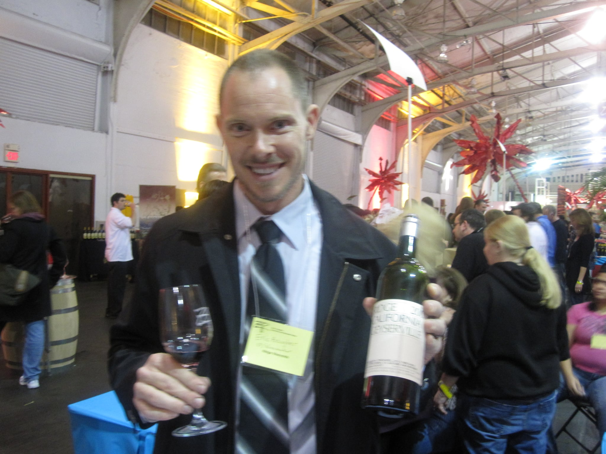 The wine was poured by one of the wine makers! He was very helpful and knowledgeable.