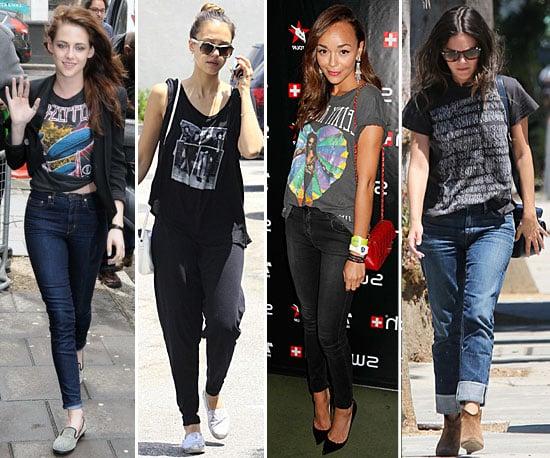 Celebrities Vintage T-Shirt Trend 2012