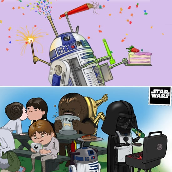 From Lando GIFs To Party Animal R2 D2 The Original Crew Putting Some Steaks On BBQ Star Wars Website Has A Commemorative Card For All Your