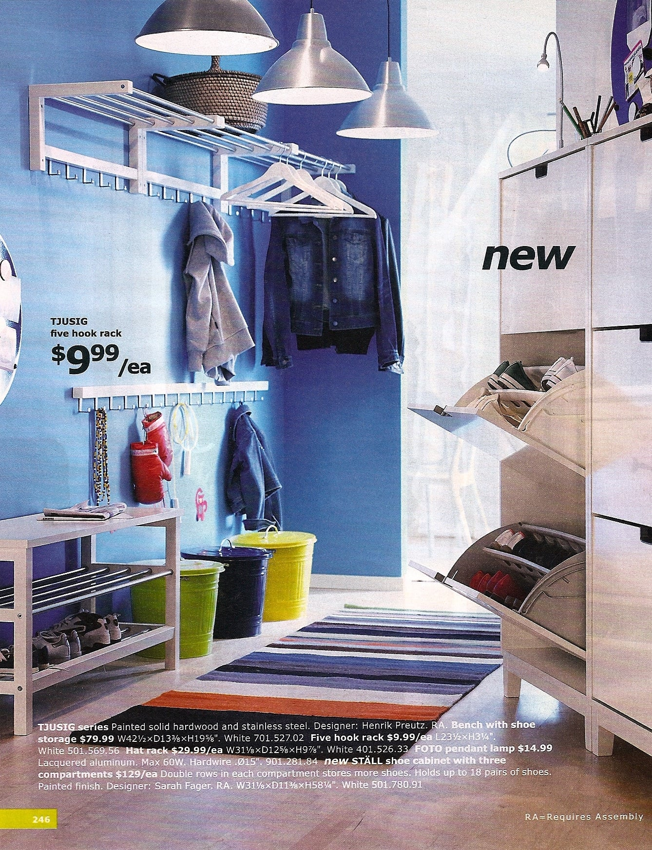 The new Stall Shoe Cabinet ($129) with three compartments looks like a life-saver.