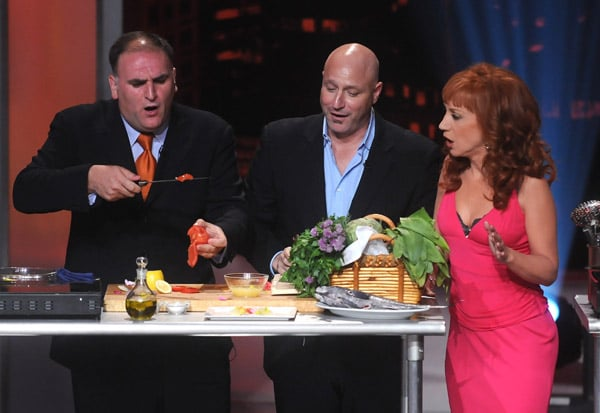 Jose Andres, Tom Collichio, and Kathy Griffin